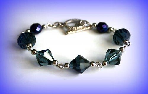 Blue crystal montana náramek