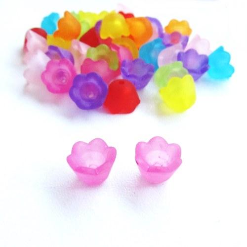 Akrylové zvonečky růžovofialové - 20 ks