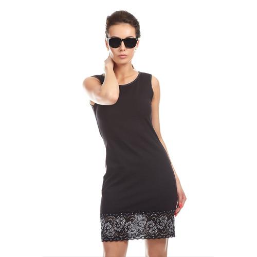 Pouzdrové šaty s krajkou - GABI / bavlna