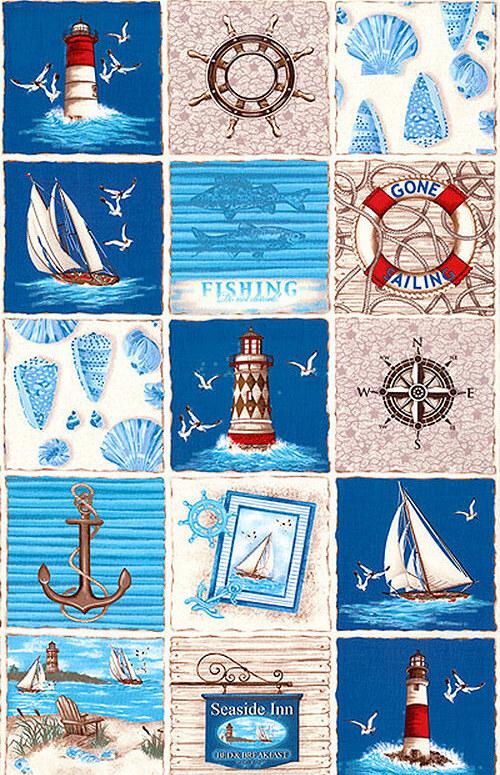 By the sea - nažehlovací textilní obrázky
