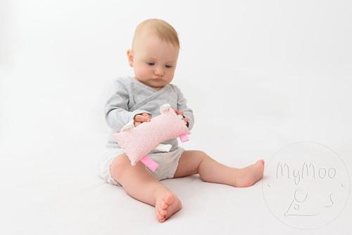 Montessori úchopový polštářek - růžový