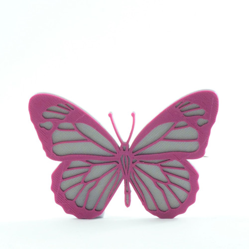 Motýlek silver/purple