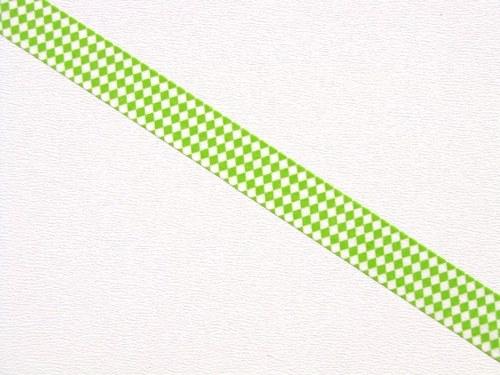 Páska: Zelený kosočtvercový vzorek (1,5 x 33 cm)