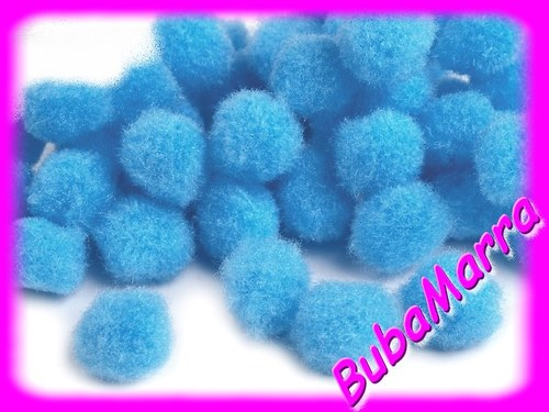 ~ 20ks ~ Bambulky ~ Ø13mm ~ sv. modrá