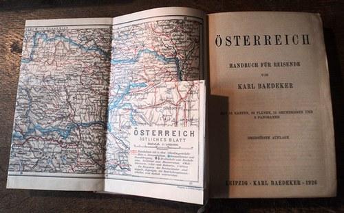 Baedeker - průvodce Rakouskem z roku 1926 /něm./