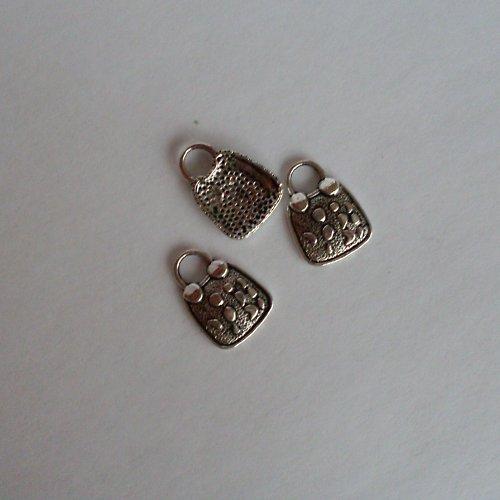 Přívěsek  2ks - kabelka IV - tibet. stříbro