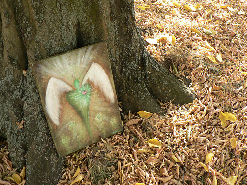Anděl v zeleném - energetický obraz