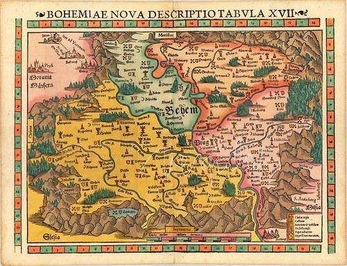 Mapa Bohemia panorama