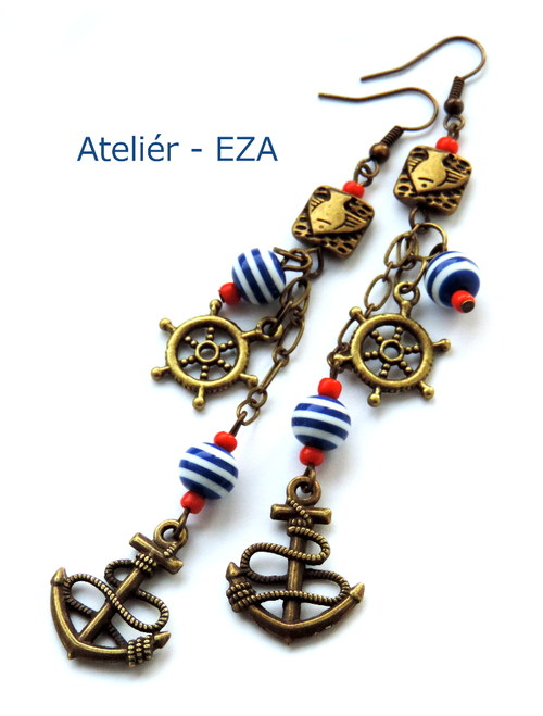 Námořnické náušnice - extra dlouhé