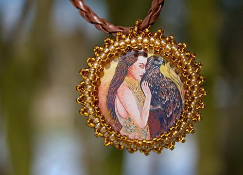 Nebeský posel - medailonek, talisman