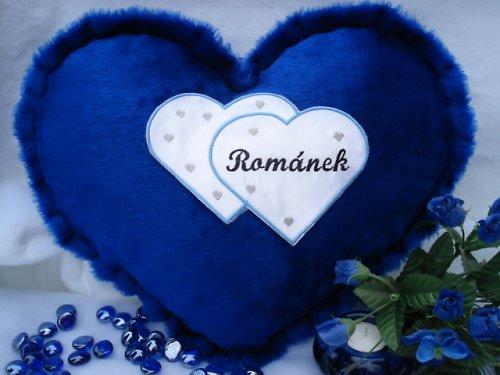 Polštář srdce Románek