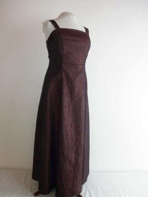 Dlouhé společenské šaty bordó 215 - vel. 46