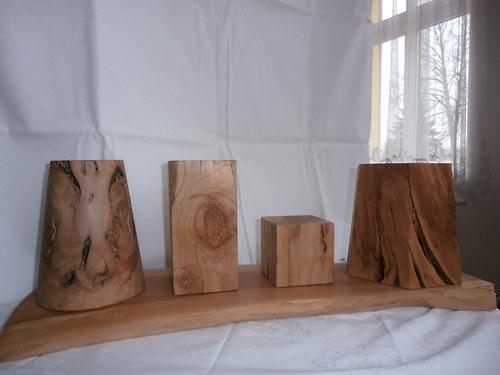 dřevěná dekorace geometrické tvary