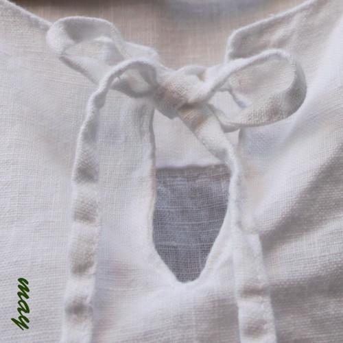 Lněná košulela  bílá XXL
