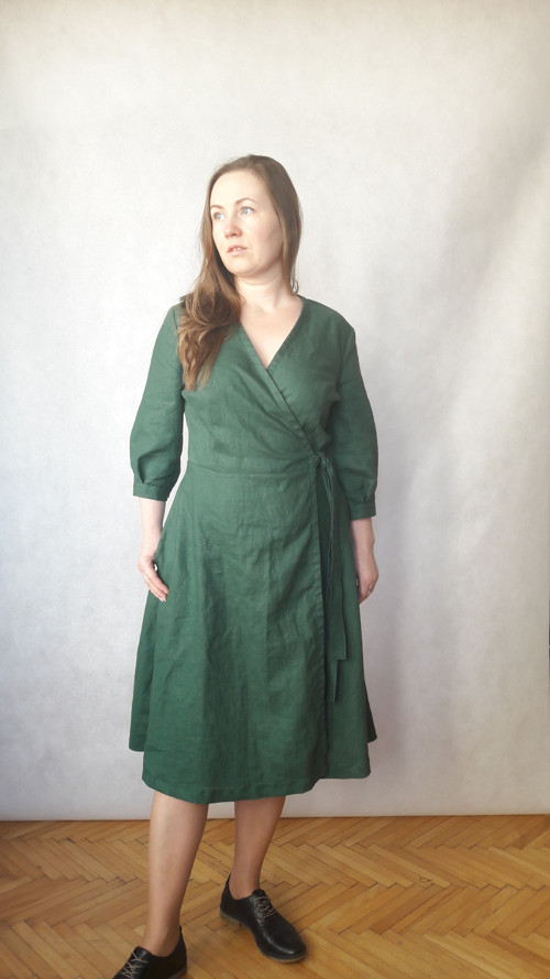Šaty lněné , zavinovací