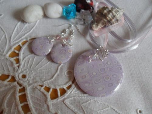 Sada Klimt fialovo růžová