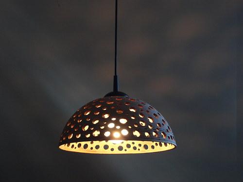 lustr keramický - KOSMOS - červený