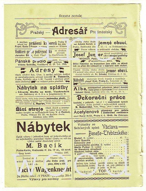 List s dobovou inzercí z roku 1901 - číslo 36