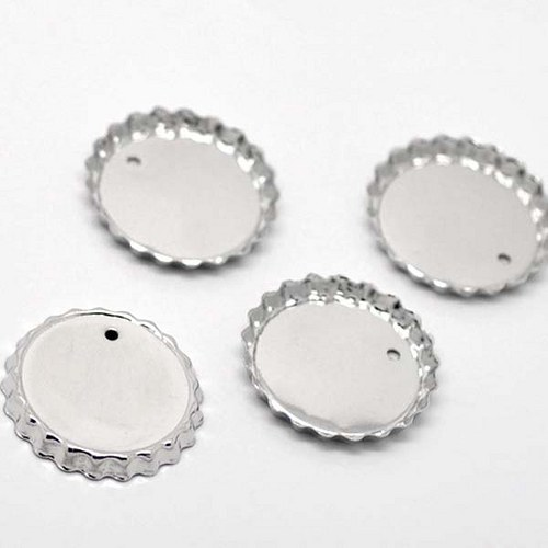 lůžko kruh víčko/ platina/ 30mm/ na 26mm/ 1ks