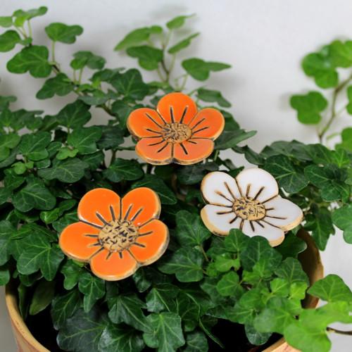 Barevné květiny - zápich oranžový
