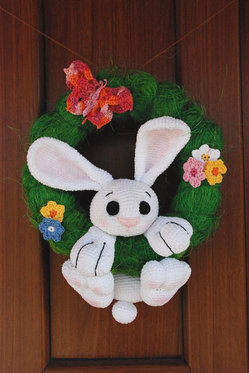 Velikonoční /jarní věnec - zajíc