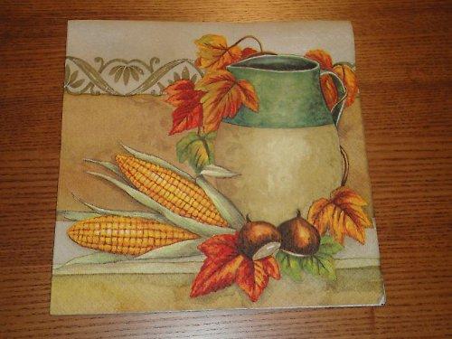 Ubrousek na decoupage - kukuřice a džbán