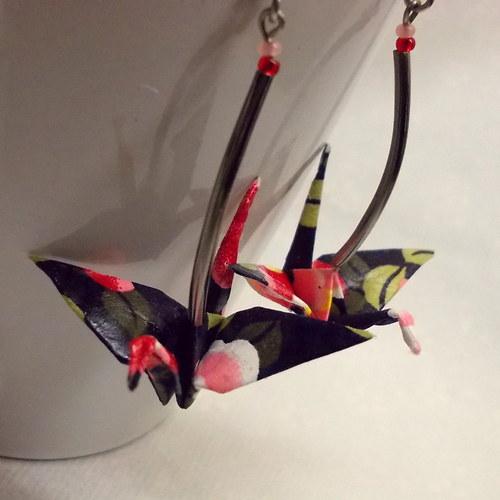 Pro radost  - origami náušnice