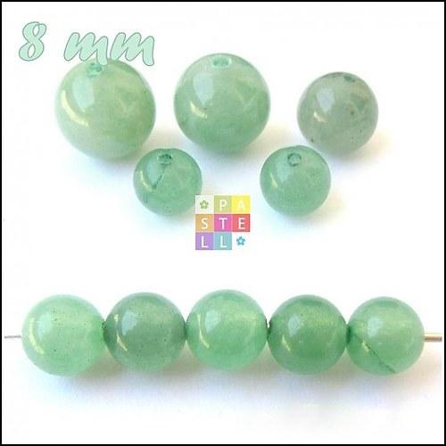 (0360) Zelený Aventurín, 8 mm - 1 ks