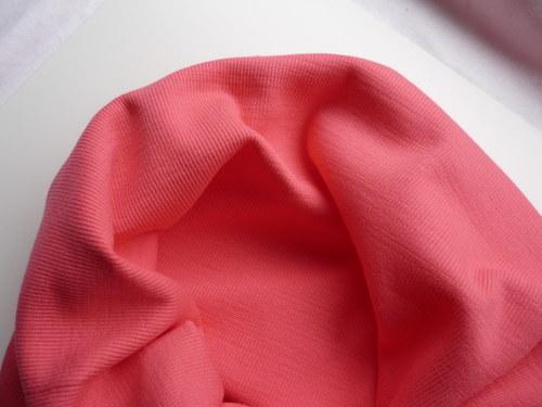 Náplet elastický žebrovaný - korálově růžový