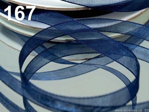Stuha šifónová š.12mm modrá tmavá