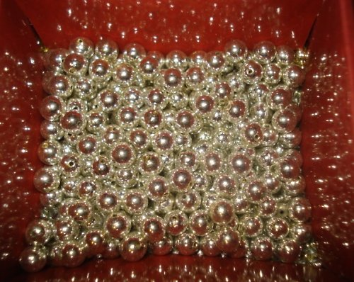 Lata perle stříbrné 6mm