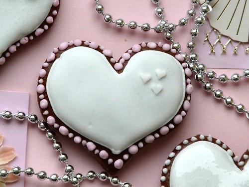 Valentinské srdíčko malé bílé