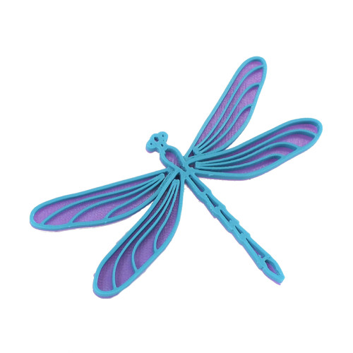 Vážka violet/turqouise blue