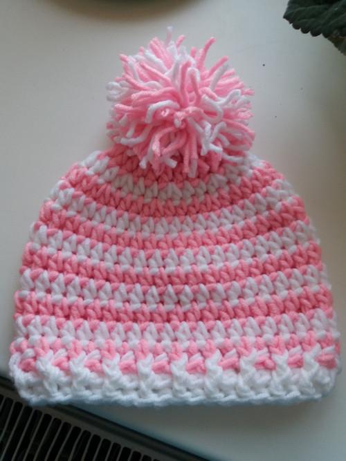 Zimní čepice růžová