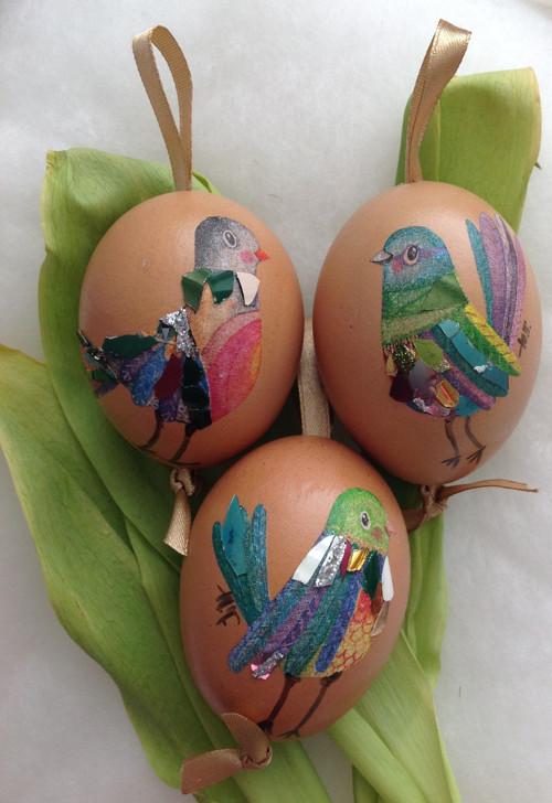 Přírodní ptáčková vajíčka set 3ks