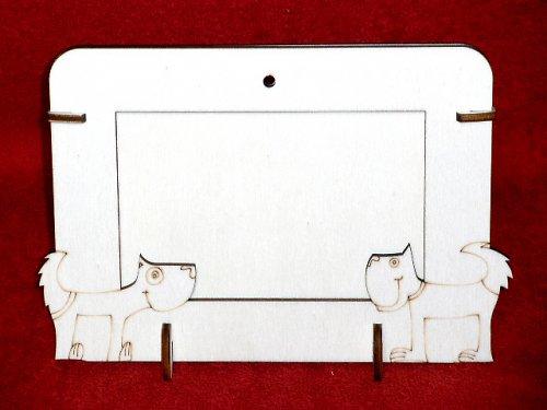 2v1 rámeček na šířku fota 10x15cm - 2pejsci