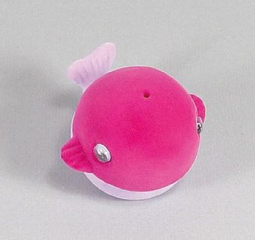 Sametová krabička na šperky - růžová velryba