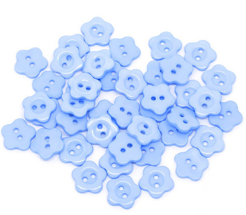 knoflíček kytička 5 ks modrá