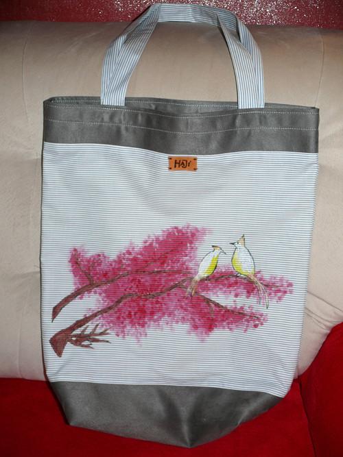 """Taška na velké nákupy \""""Ptačí pokec\"""""""