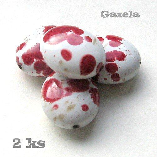 Oválek dalmatin červený - 2 ks