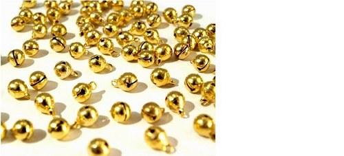 Rolnička 6 mm zlatá
