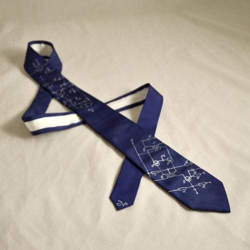Úzká elektrikářská kravata - tmavě modrá