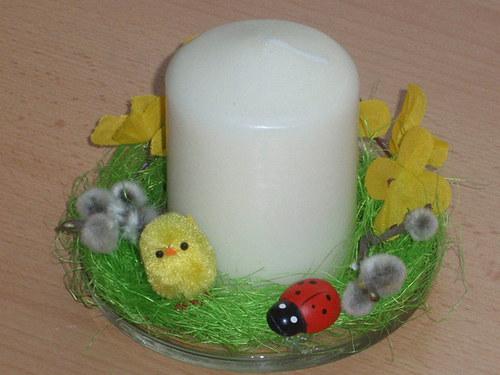 Kuřátko a beruška - svíčka