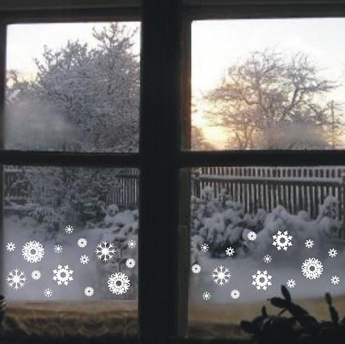 Sněhové vločky na okno 30ks