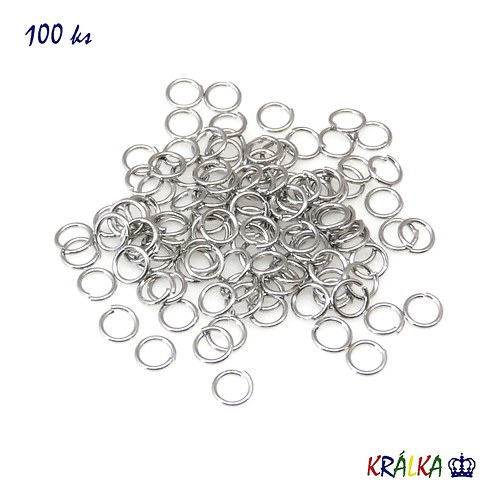 Spojovací kroužek 5 mm platina