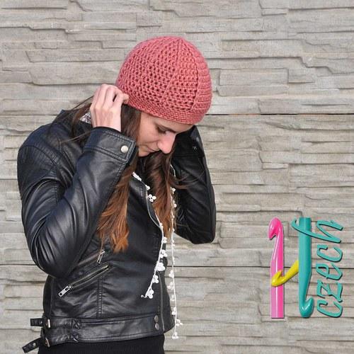 Čepice meruňková - vyberte si barvu