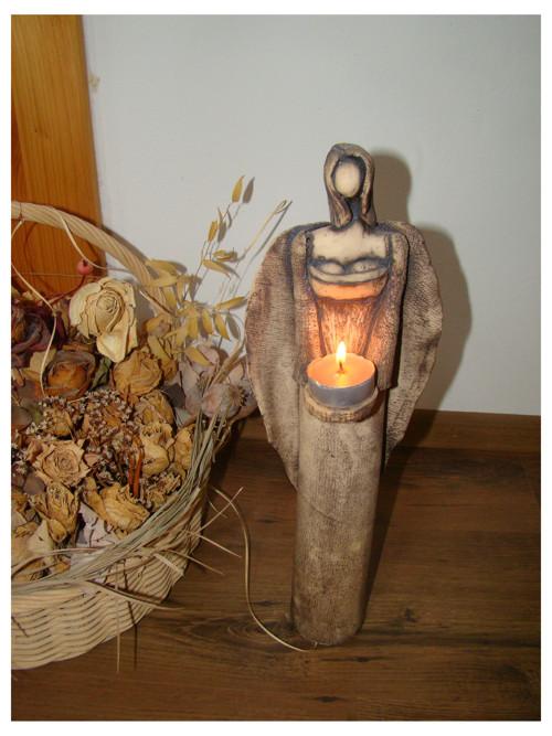 Anděl-světlonoš  40 cm