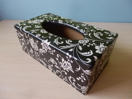 Krabička na kapesníky Černobílá