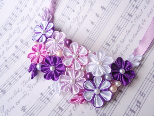 Purple rainbow náhrdelník