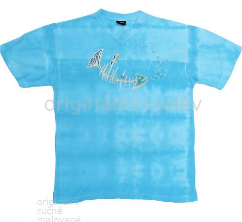 Batikované tričko pánské - pod hladinou